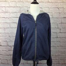 Ann Taylor Loft Hoodie Jacket Women Small Blue Pockets Zip Down