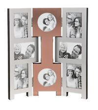 8 Picture Copper Folding Photo Picture Frame Multi Collage Aperture Xmas Gifts