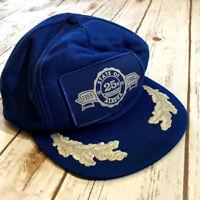 Vtg State of Alaska Snapback Hat 25th Anniversary Cap 1959 - 1984 Blue & Silver