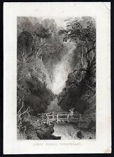 AIREY FORCE 1839 Joseph Clayton Bentley - Thomas Allom ANTIQUE ENGRAVING