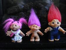 Vintage Troll Dolls - Set Of 3 - By Thomas Dam - 5 Inch