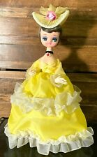 ⭐ Big Eyes 1960's Bradley Whimsical Southern Belle Doll Anime Lady Figure Vtg ⭐