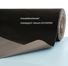 Autoteppich SCHWARZ mit Schaum-Kaschierung Meterware Autosattlerei-bedarf