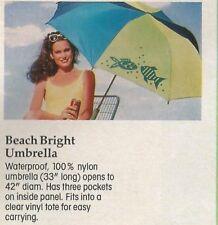 Vhtf Vtg 1991 Avon~Beach Bright Umbrella~Attachable~New In Package-Free Shipping