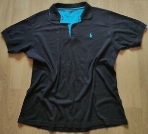 Polo Ralph Lauren men black and blue polo t-shirt XL in vgc