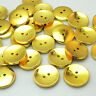 New 10/30pcs Gold Round Plastic Buttons 2 Holes Sewing Craft 25mm T0834
