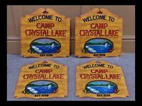 Friday The 13th, Camp Crystal Lake, Sign Replica, Movie Memorabilia, Movie Sign