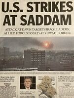 U.S. Launches 2003 Battle of Baghdad Iraq March 20 2003 Collectible Newspaper