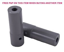 PAIR CHUNKY GREY BMX BIKE STUNTPEGS GRINDING FREESTYLER TRICK NUTS 10/14mmx110mm