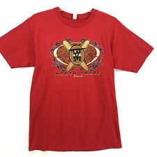 North Shore Hawaii Crew Neck Tee T-Shirt Mens Size L Large Red Short Sleeve SURF