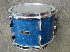 Vintage Pearl BLUE SPARKLE 8 x 12 Ride Tom Drum JAPAN !  NEEDS MOUNT & TONE KNOB