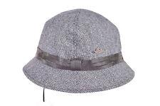 Wigens NWT Wool Blend Walker (Bucket) Hat in Gray Size 59, 7 & 3/8ths
