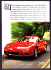 "1993 Mazda RX-7 Coupe photo ""Go Faster With Our Brake Pedal"" promo print ad"