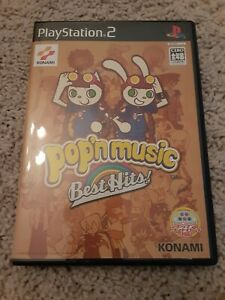 Pop'N Music Best Hits (Sony PS2) CD-ROM USED JAPAN IMPORT CIB VERY GOOD COND
