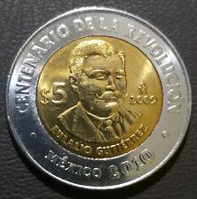 5 pesos Mexico Eulalio Gutierrez 2009 UNC