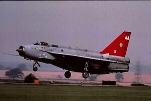 Duplicate colour slide Lightning F.6 XR770/AA of 5 Sqdn. RAF