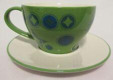 Starbucks Holiday 2006 Coffee Cup Mug Plate Saucer Green Elf Christmas Stocking