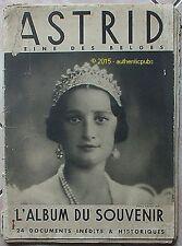 ASTRID REINE DES BELGES ALBUM SOUVENIR DE 1935 ALBERT ROI DES BELGES BELGIQUE TB