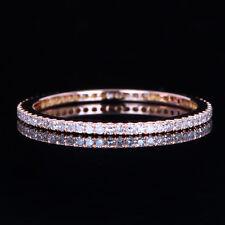 10K Rose Gold Full Eternity Diamond Band Engagement Wedding Ring Pave Setting