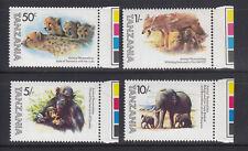 Tanzania1982 Famous Animals Sc 201-204 Mint Never Hinged