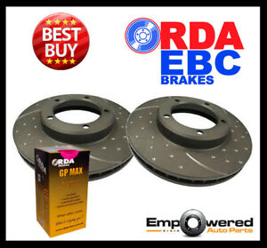 DIMPLED SLOTTED FRONT DISC BRAKE ROTORS+PADS for Chrysler Valiant VG *PCD 101mm*