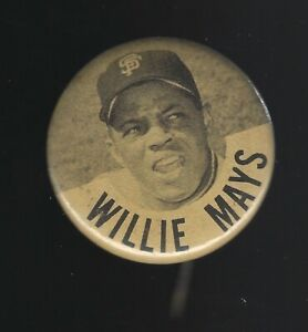 Early 1960's Willie Mays San Francisco Giants PM-10 1.75-Inch Pinback Button