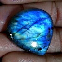 Natural Madagascar Blue Fire Spectrolite Labradorite Pear Cabochon Gemstone