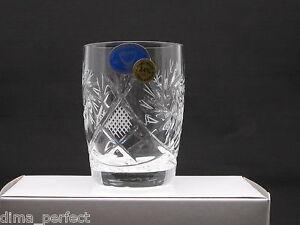 Set of 6 Russian Vintage style  Crystal Shot glasses 1.7 oz Hand Made Vodka New