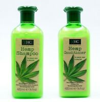 XHC Hemp Shampoo & Conditioner 400ml Each Sleek Shiny Hair Paraben Free Ladies