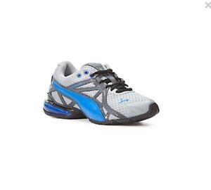 New Puma Voltaic 5 Jr Limestone Gray Blue Dark Shadow Boys Youth Sneaker Shoe