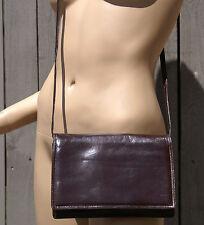 Pre-Owned BOTTEGA VENETA Maroon/Brown Leather Cross Body Flap Snap Closure Bag
