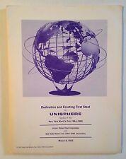 New York World's Fair How to Make a Unisphere Dedication Press Folder- very rare