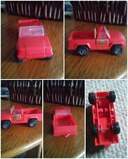 Vintage Smal Red Plastic Fire Department FD #3 Pickup Truck Tonka