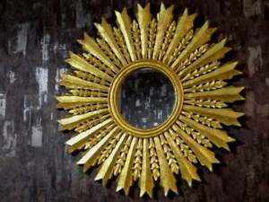New Decorative Hand Carved Mirror Frame With Golden Foil Finish For Home Decor