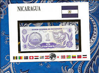 E Banknotes of All Nations Nicaragua 1991 1 Centavos P167a UNC