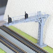 1 x HO / OO gray cantilever signal bridge LED 2 aspects double Tracks right side