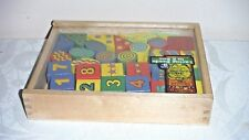 Melissa and Doug Classic Lacing Beads in a box 28 blocks 2 laces nice box