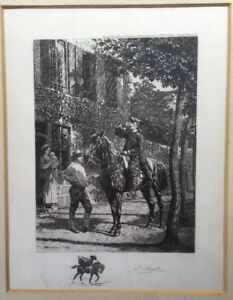 Rare Pair Of Signed Limited Edition Antique Etchings (1915/1918) By L. RUET