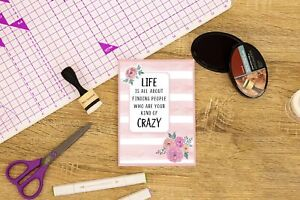 Crafter's Companion Clear Acrylic Quirky Stamp-Your Kind Of Crazy