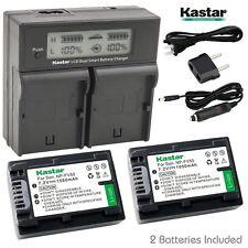 Kastar FV50 Battery & LCD Dual Fast Charger for Sony DCR-SX44 DCR-SX45  DCR-SX63