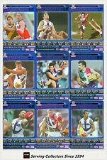2006 AFL Teamcoach Tradinging Card Blue Platinum Team Set Fremanlte (9)