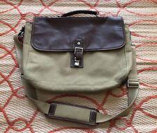 Hartmann Canvas & Leather Shoulder Briefcase Messenger Bag