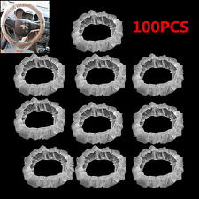 100in1 Disposable Elastic Car Autos Steering Wheel Decoration Protector Covers