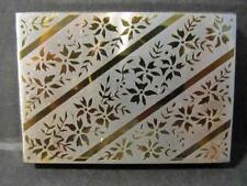 Vintage ZELL Silvertone Powder Compact Vanity For New Collector Goldtone Floral