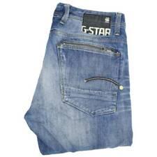 G-Star Attacc Men Blue Straight Regular Jeans W36 L36 (47531)