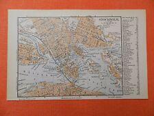 STOCKHOLM  historischer Stadtplan v.1897  Strassenverzeichnis historical map