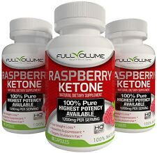 3X RASPBERRY KETONE BEST #1 Diet Pills Weight Loss Fat Burner 1200mg PURE 60 Cap