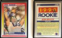 Bern Brostek Signed 1990 Score #642 RC Card Rams Auto Autograph