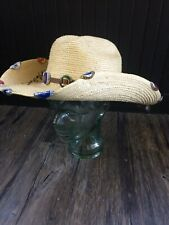 Sun Body Hats, cowboy hat. Signed Rodeo! Beer caps, custom. Palm leaves! Awesome