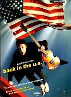 PAUL McCARTNEY 2002 BACK IN THE U.S. TOUR PROGRAM BOOK / BOOKLET / NMT 2 MINT